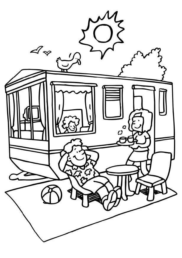 616x872 Camper Coloring Page