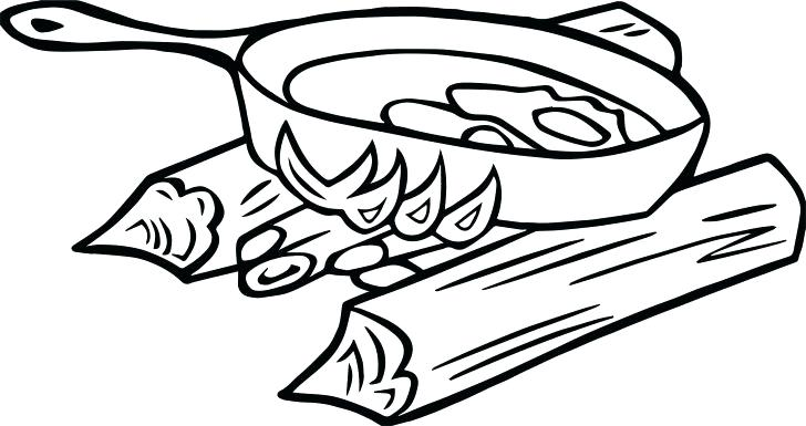 728x385 Campfire Coloring Pages Print Camping Page Zahlkarte Site