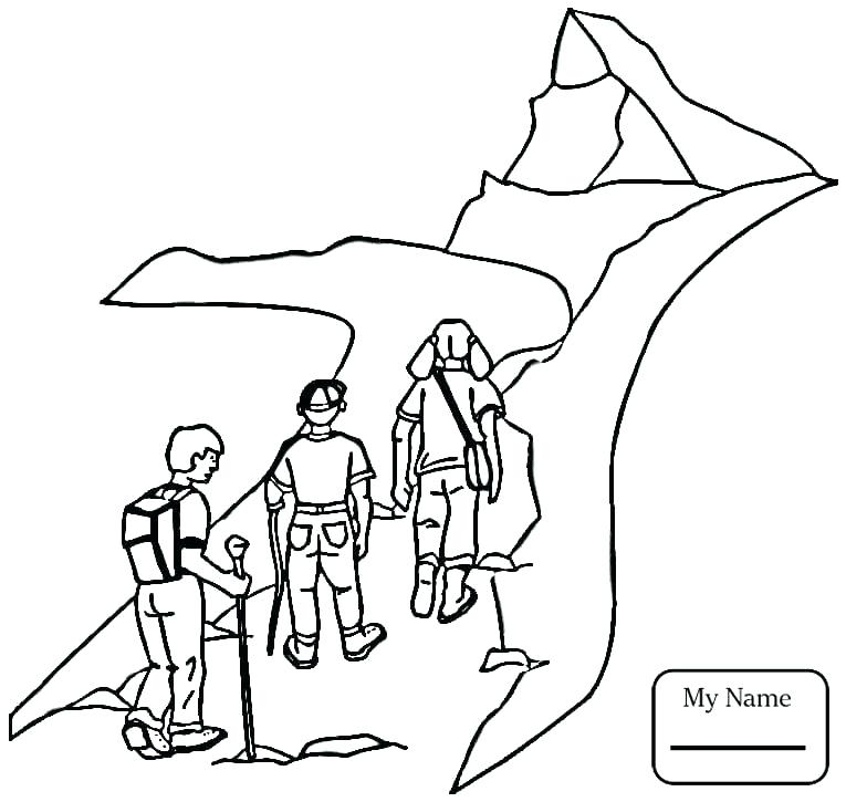 765x725 Camping Coloring Pages Campfire Coloring Pages Family Hiking