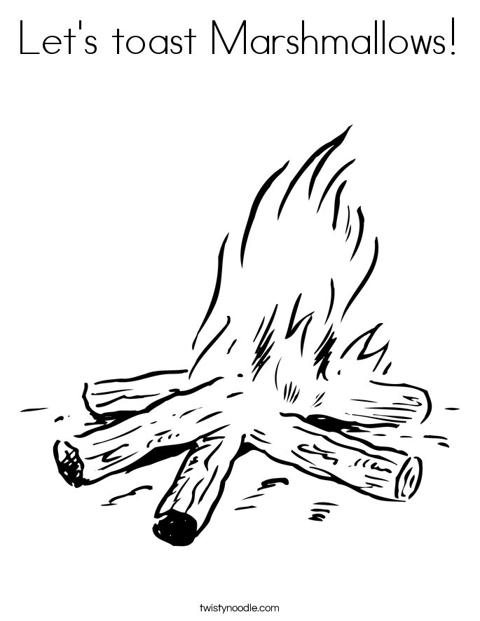 685x886 Let's Toast Marshmallows Coloring Page