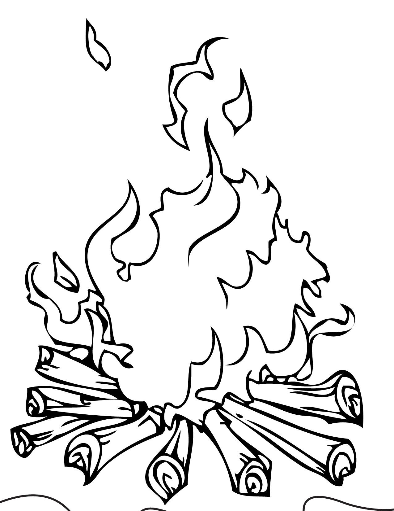 1275x1650 Wonderful Campfire Coloring Pages Printable With Camping Endear