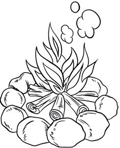 236x293 Camp Fire Colouring Pages Campfire Coloring Pages