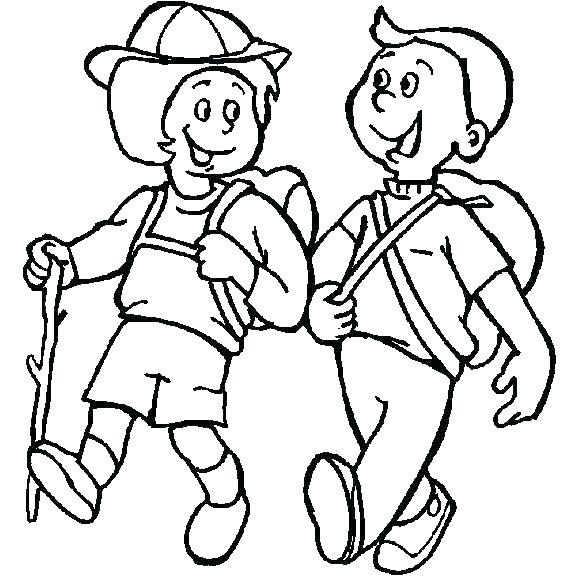 578x578 Camping Coloring Pages Colouring Scene Travel
