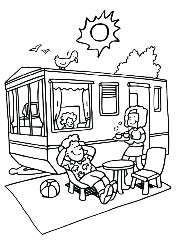616x872 Camping Coloring Pages Or Pics Of Camper Coloring Pages Camping
