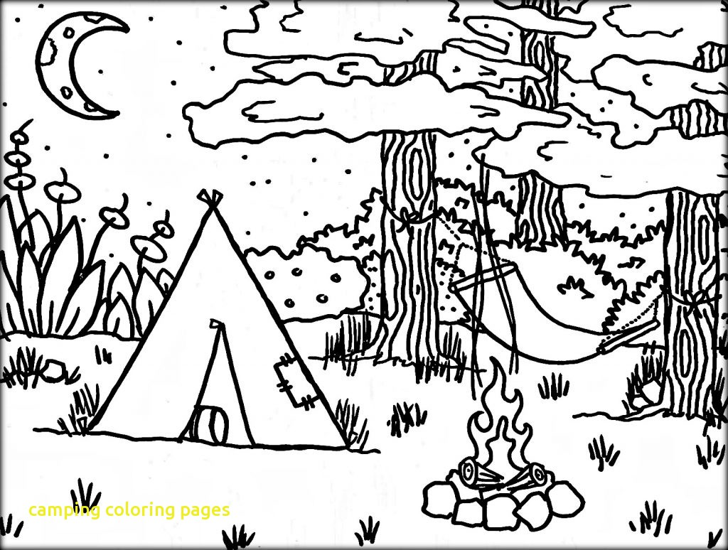 1024x774 Camping Coloring Pages With Worksheet Free