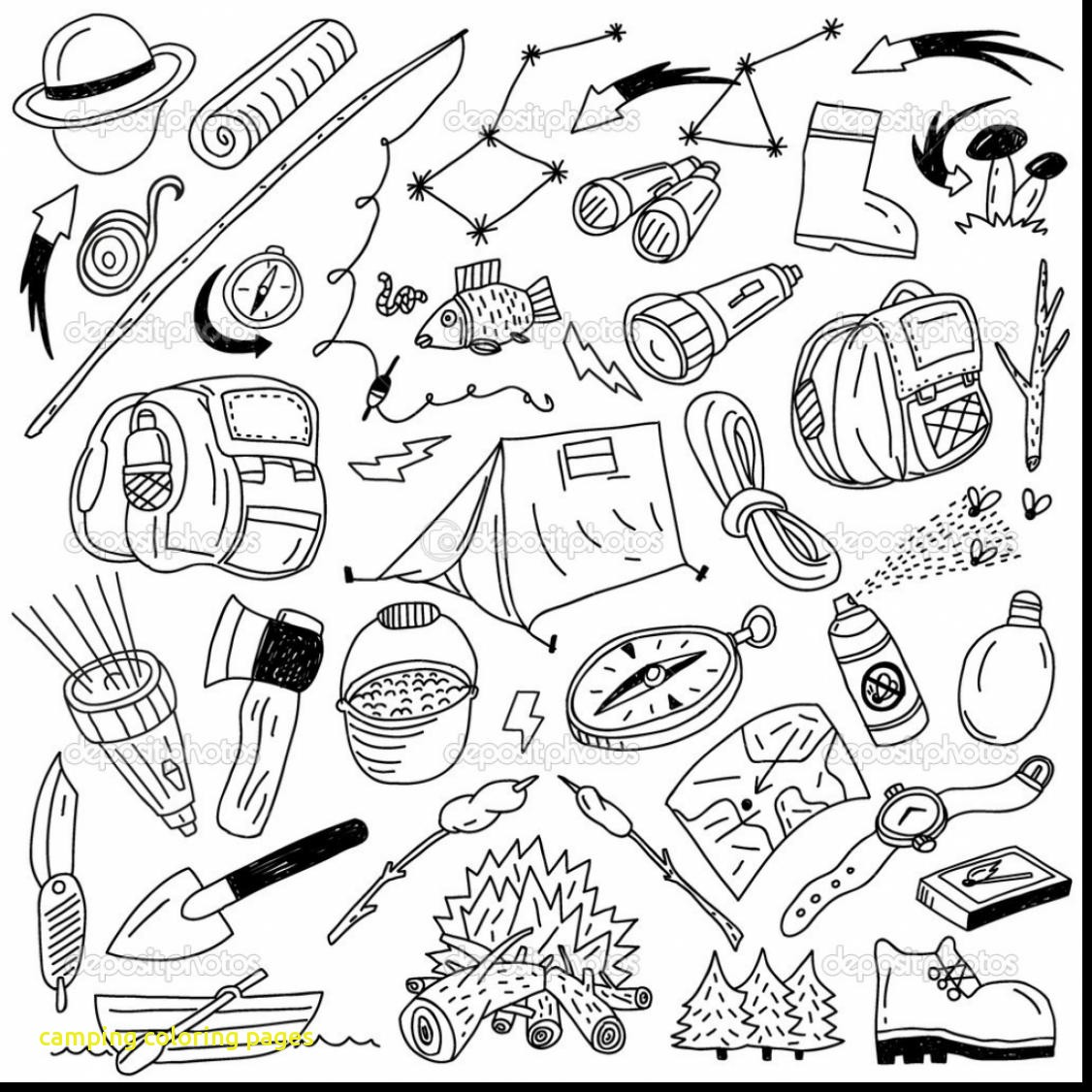 1126x1126 Camping Coloring Pages With Amazing Camping Coloring Pages