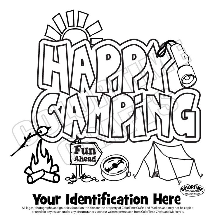 736x736 Girl Scout Camping Coloring Pages Happy Camping Girl Scouts