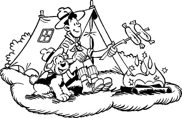 600x390 Samson And Gert Camping Coloring Pages Best Place To Color