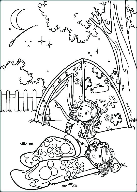 557x778 Camping Coloring Pages For Kids Vanda