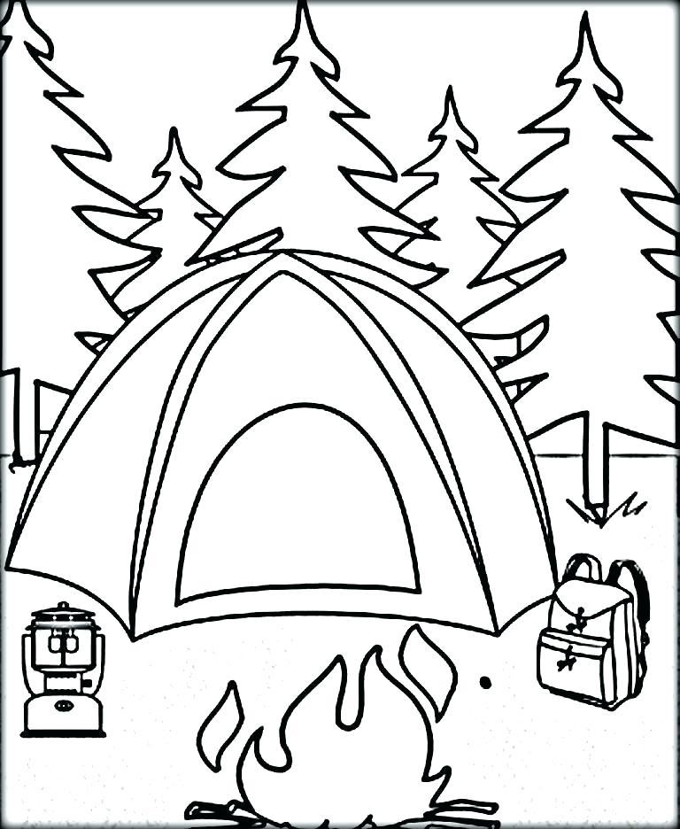 768x936 Coloring Camping Coloring Sheets