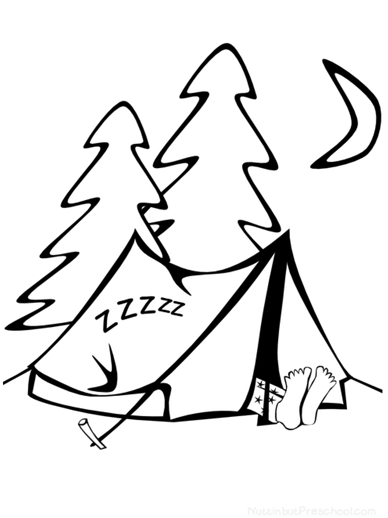 768x1024 Camping Coloring Page Nuttin' But Preschool