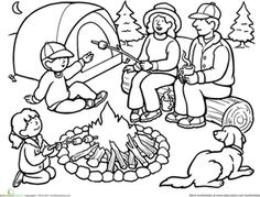 236x179 Camping Coloring Page