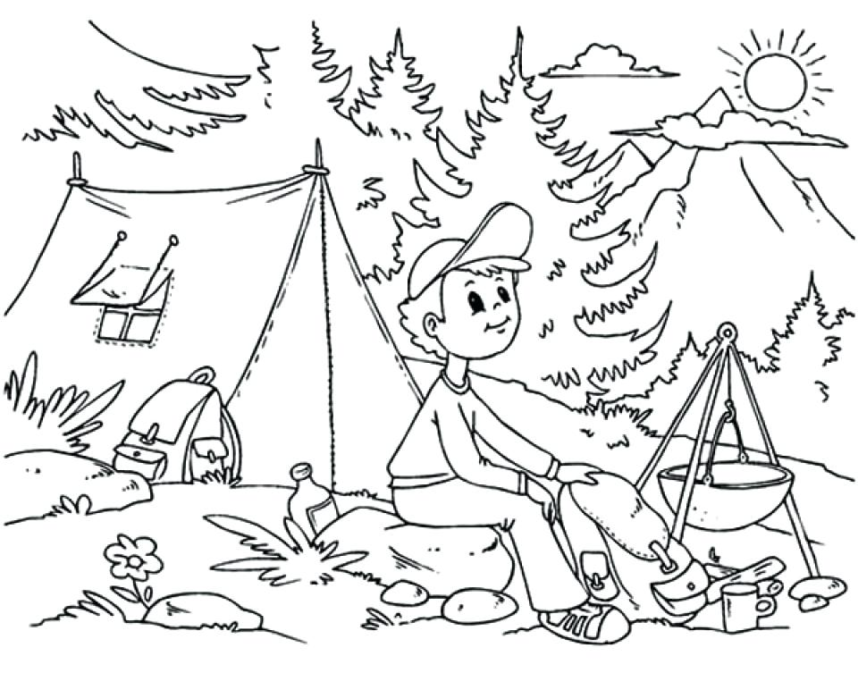 Camping Coloring Pages At Getdrawings Com Free For Personal Use