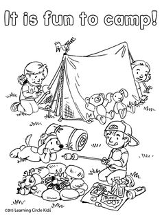 236x314 Camping Coloring Page {freebie}draw Yourself In The Picture Write