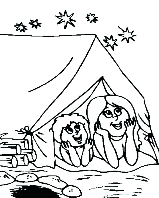 640x800 Camping Coloring Pages To Print Camping Coloring Pictures