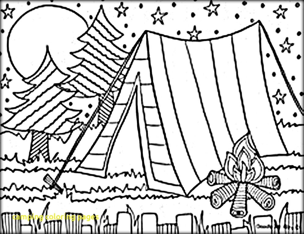996x768 Camping Coloring Pages With Mesmerizing Camping Coloring Pages