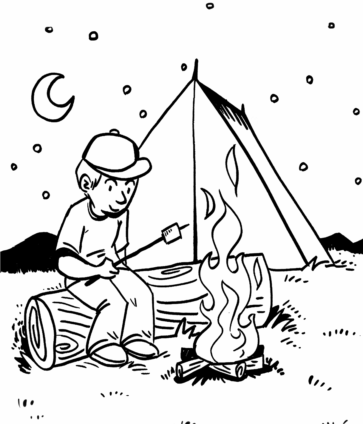1217x1421 Awesome Camping Coloring Pages Printable Design Free Coloring Pages