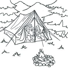 236x236 Free Printable Camping Coloring Sheets Camping And Forest Theme