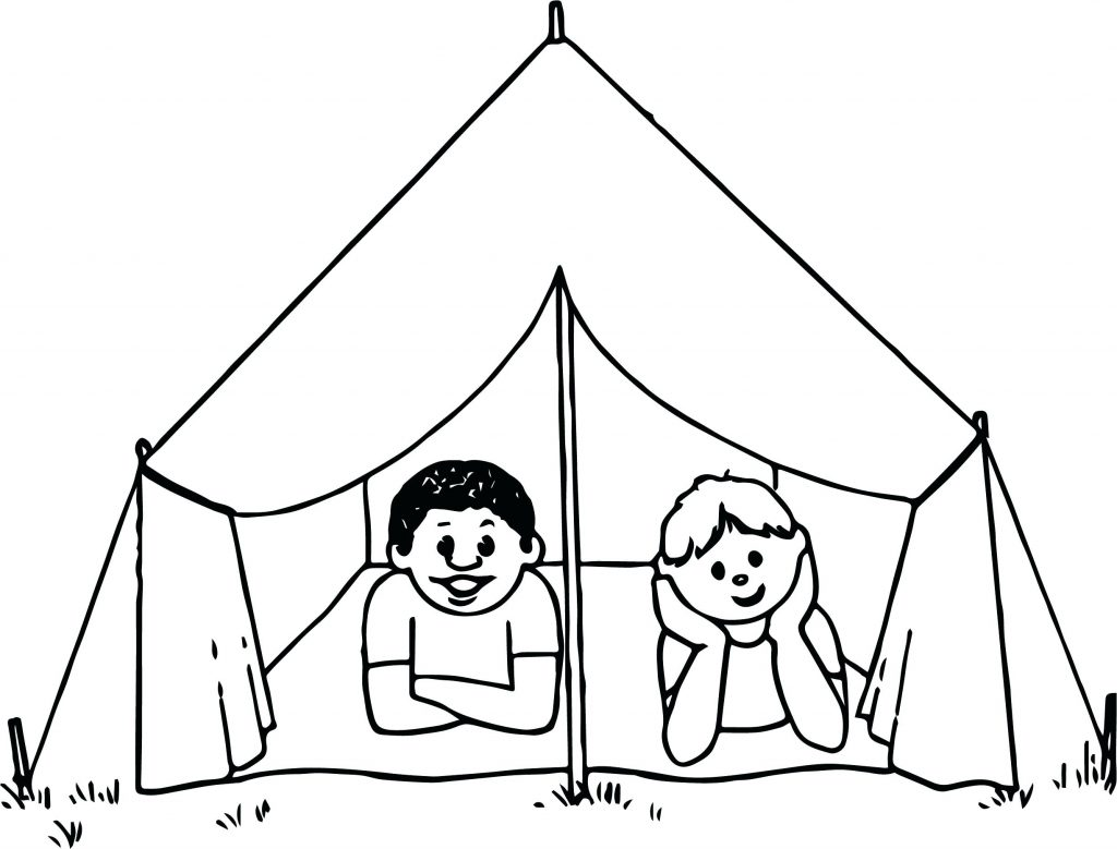 1024x779 Coloring Pages Camping Coloring Pages Kids Page Themed Sheets