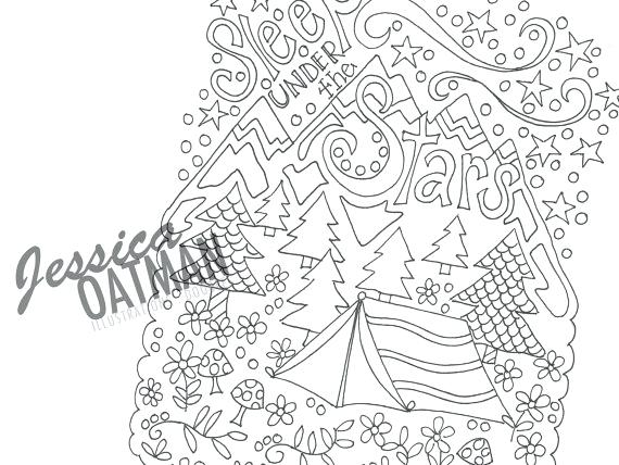 570x428 Camping Coloring Page Outdoor Coloring Pages Outdoor Coloring
