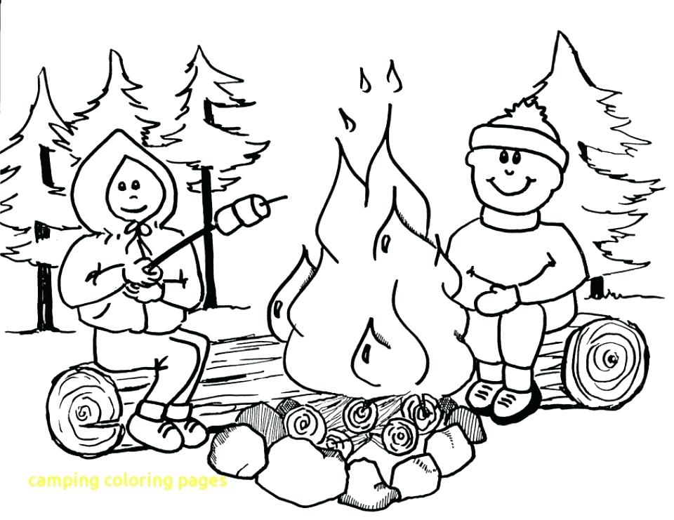960x741 Camping Coloring Pages Camping Coloring Book Also Water Safety