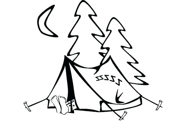 600x434 Camping Coloring Pages Camping Coloring Page Tent Coloring Page