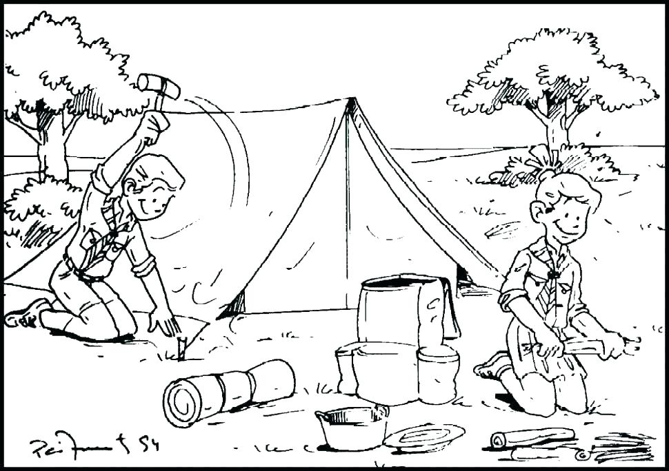 970x684 Camping Coloring Pages Camping Coloring Sheets Camping Coloring