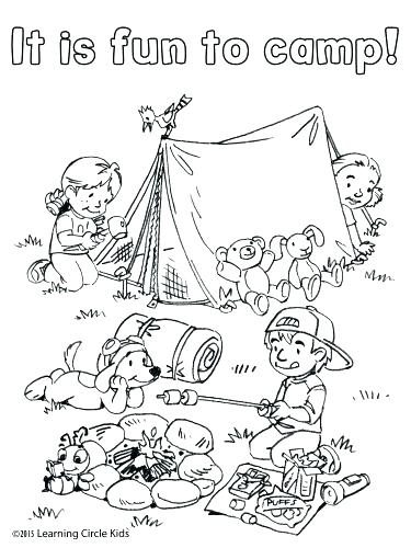 375x500 Camping Coloring Pages Coloring Pages Coloring Pages Camping