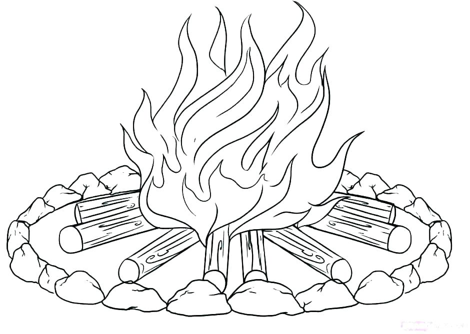 940x669 Camping Coloring Pages For Preschoolers Camping Coloring Pages