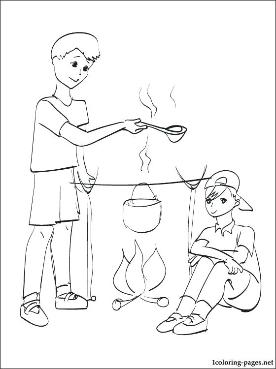 560x750 Camping Coloring Pictures For Preschoolers Pages To Print