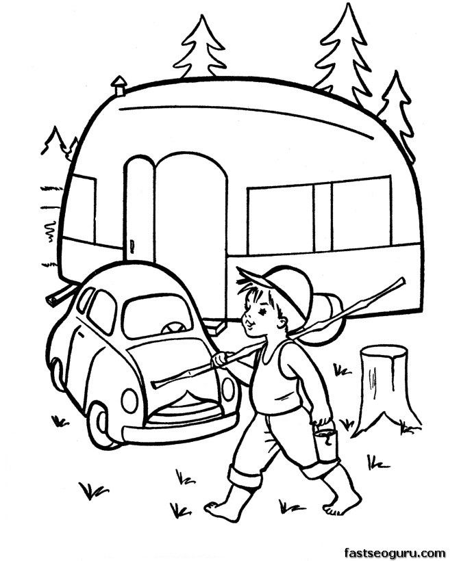 670x820 Camping Embroidery, Craft