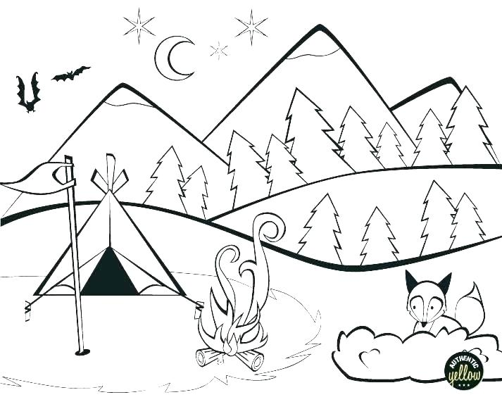 713x581 Camping Coloring Pages