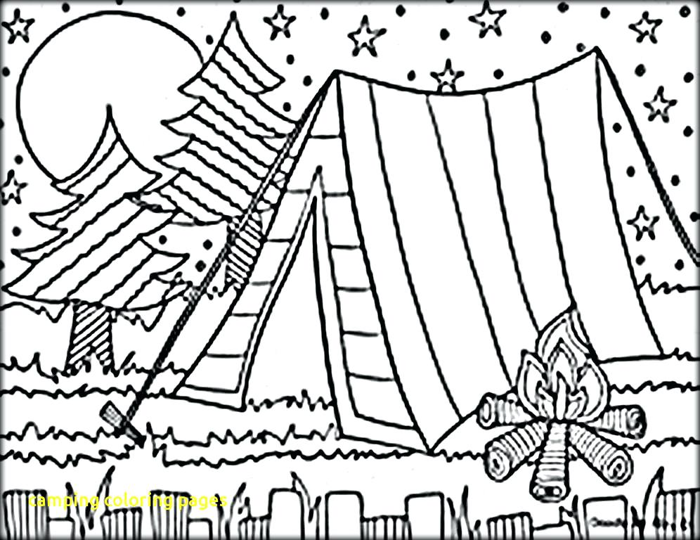 996x768 Camping Coloring Pages