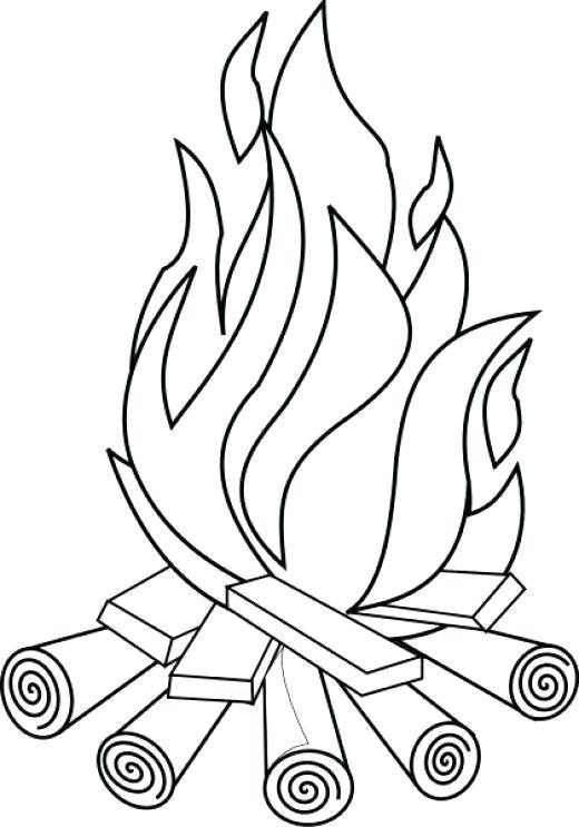 520x743 Camping Coloring Page Camping Coloring Pages And Sheets For Adults