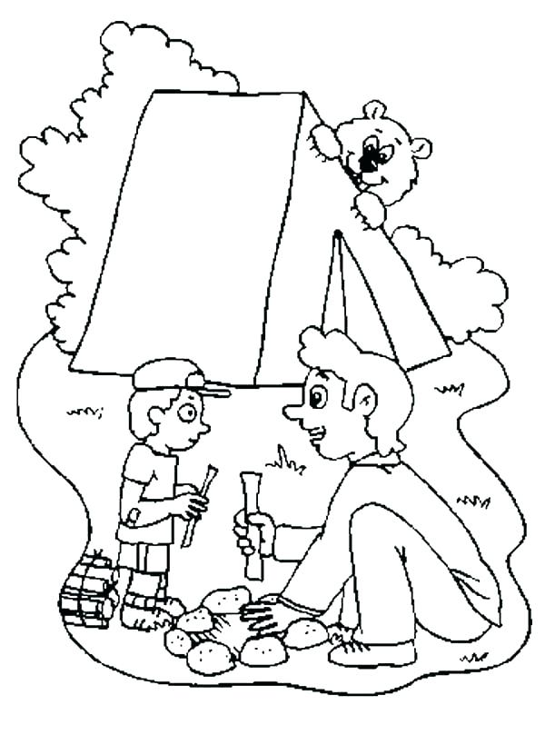 600x831 Camping Coloring Page Camping Coloring Pages Campfire Coloring