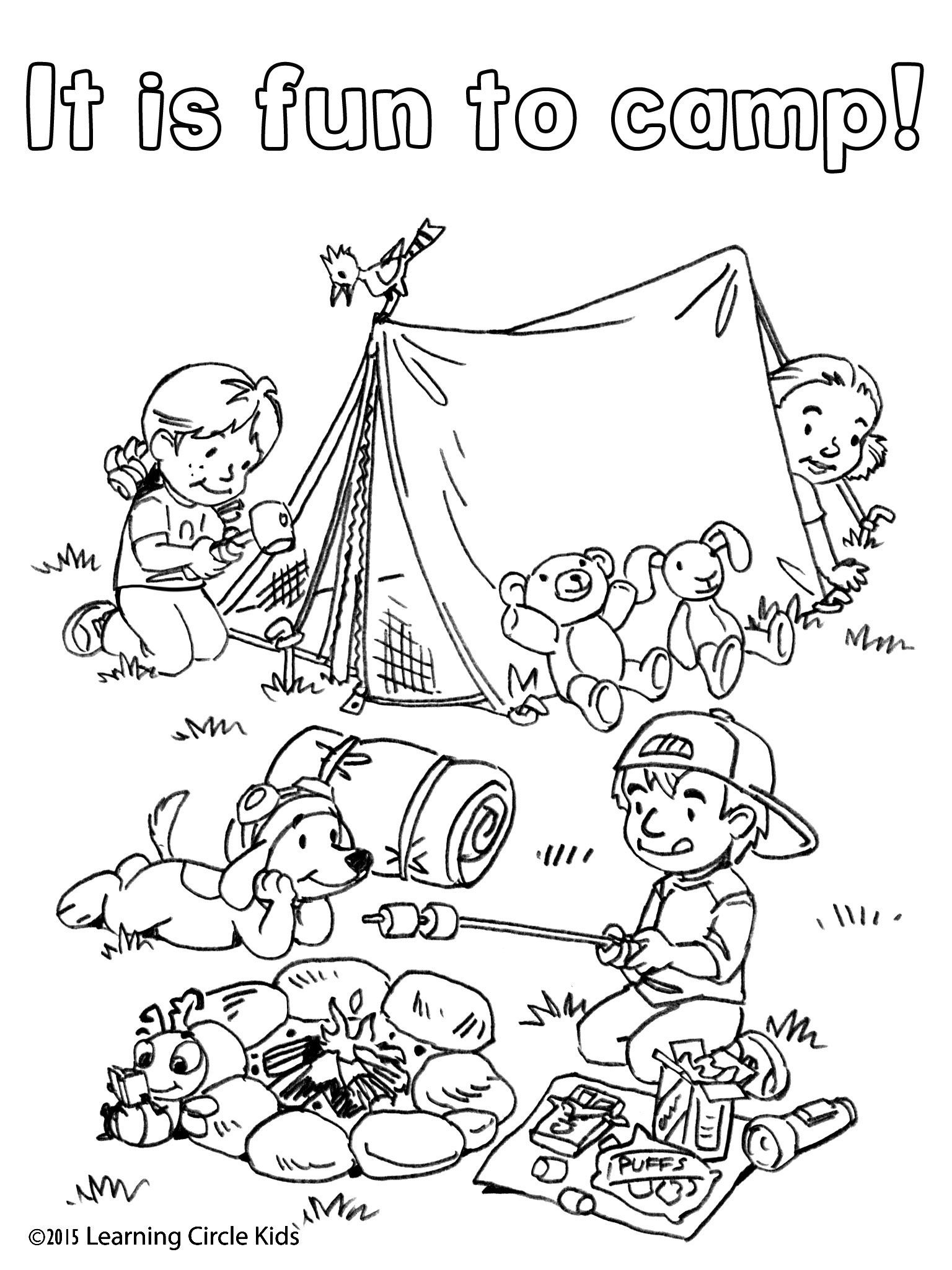 Camping Coloring Pages For Toddlers