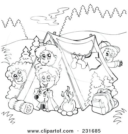 450x470 Camping Coloring Pages Kids Camping Coloring Pages Camping