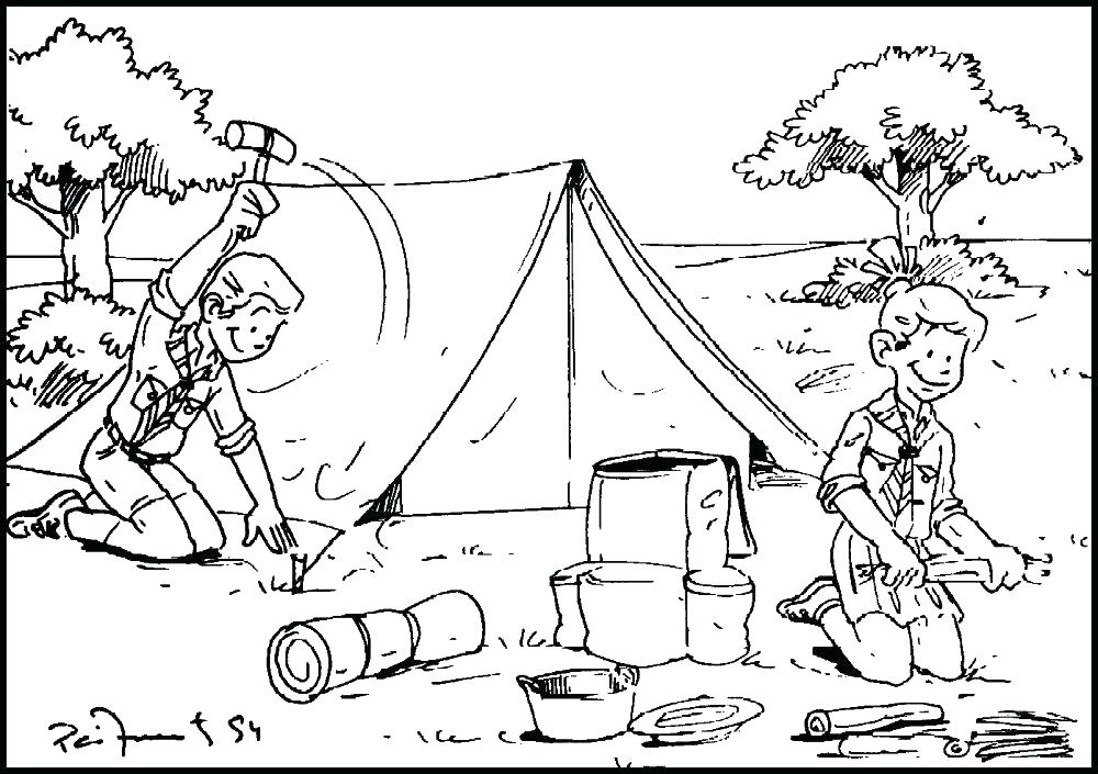 1000x705 Camping Coloring Pages Pdf Camping Coloring Page Camping Colouring