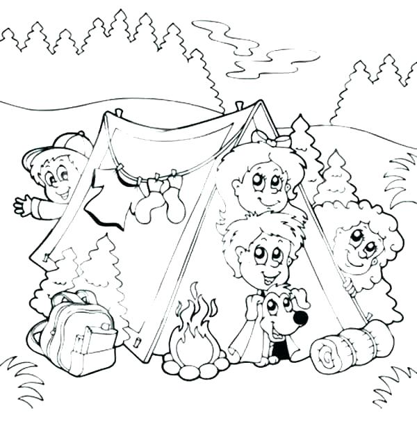 600x630 Camping Coloring Pages To Print Camping Coloring Pages Camping