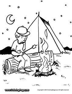 236x305 Gallery For Gt Camping Coloring Pages For Preschool Preschool