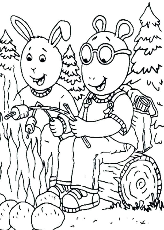 685x960 Camping Coloring Pages For Toddlers