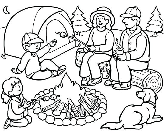 550x458 Camping Coloring Pages
