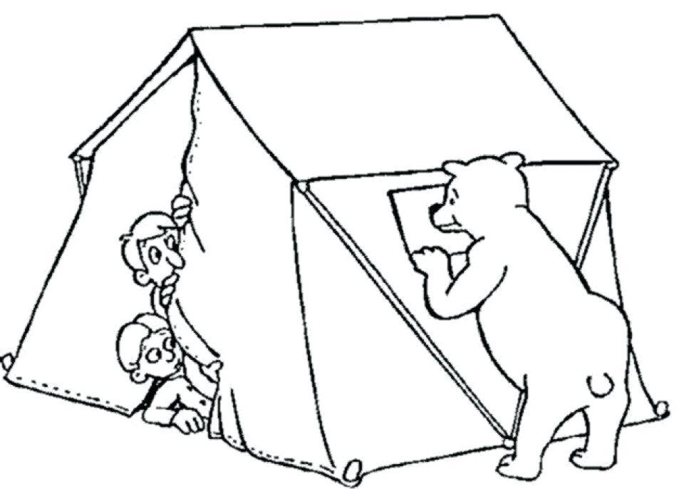960x686 Camping Coloring Pages Camping Coloring Pages Free Printable