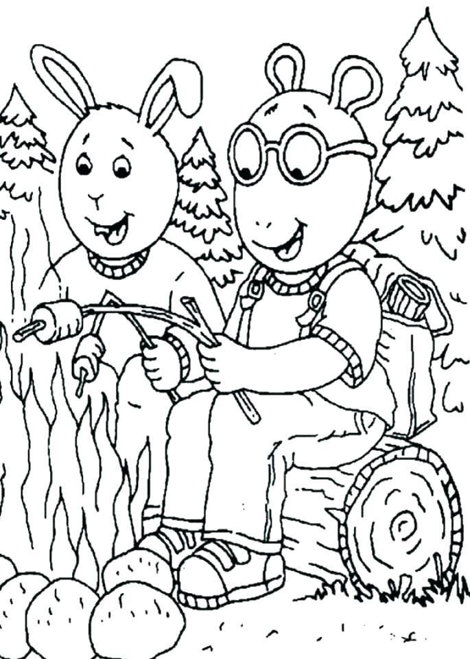 685x960 Camping Coloring Pages Free Printable Safety