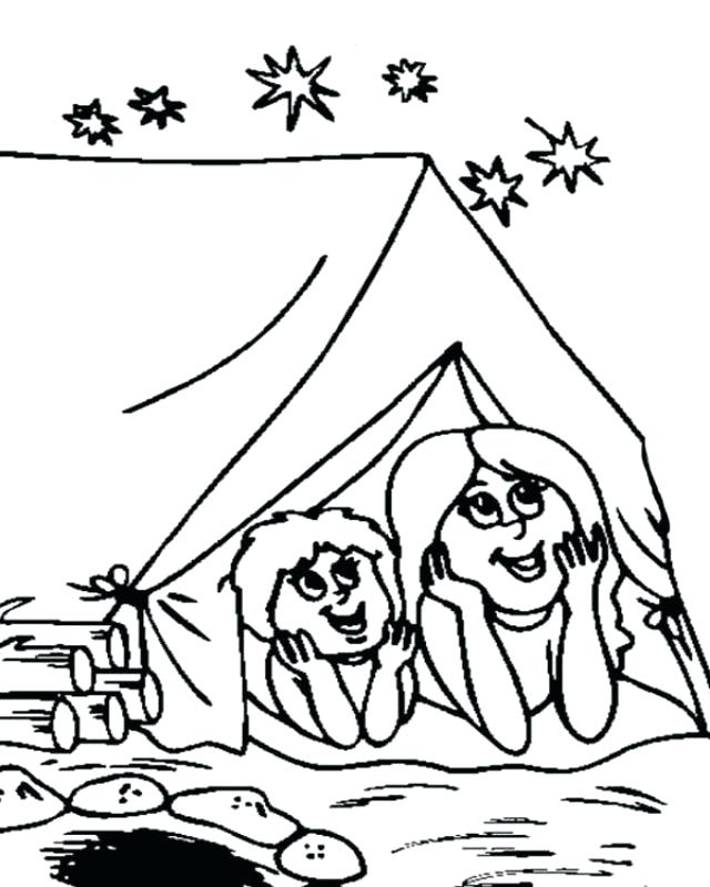 640x800 Camping Coloring Pages Printable Camping Coloring Pages For Kids