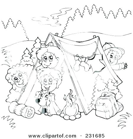 450x470 Camping Coloring Pages Printable To Print Page Sh
