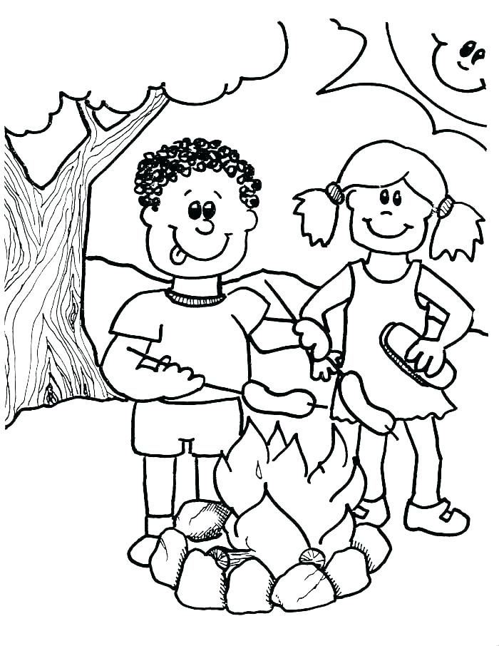 700x906 Camping Coloring Pages To Print Camping Coloring Pages Summer Camp