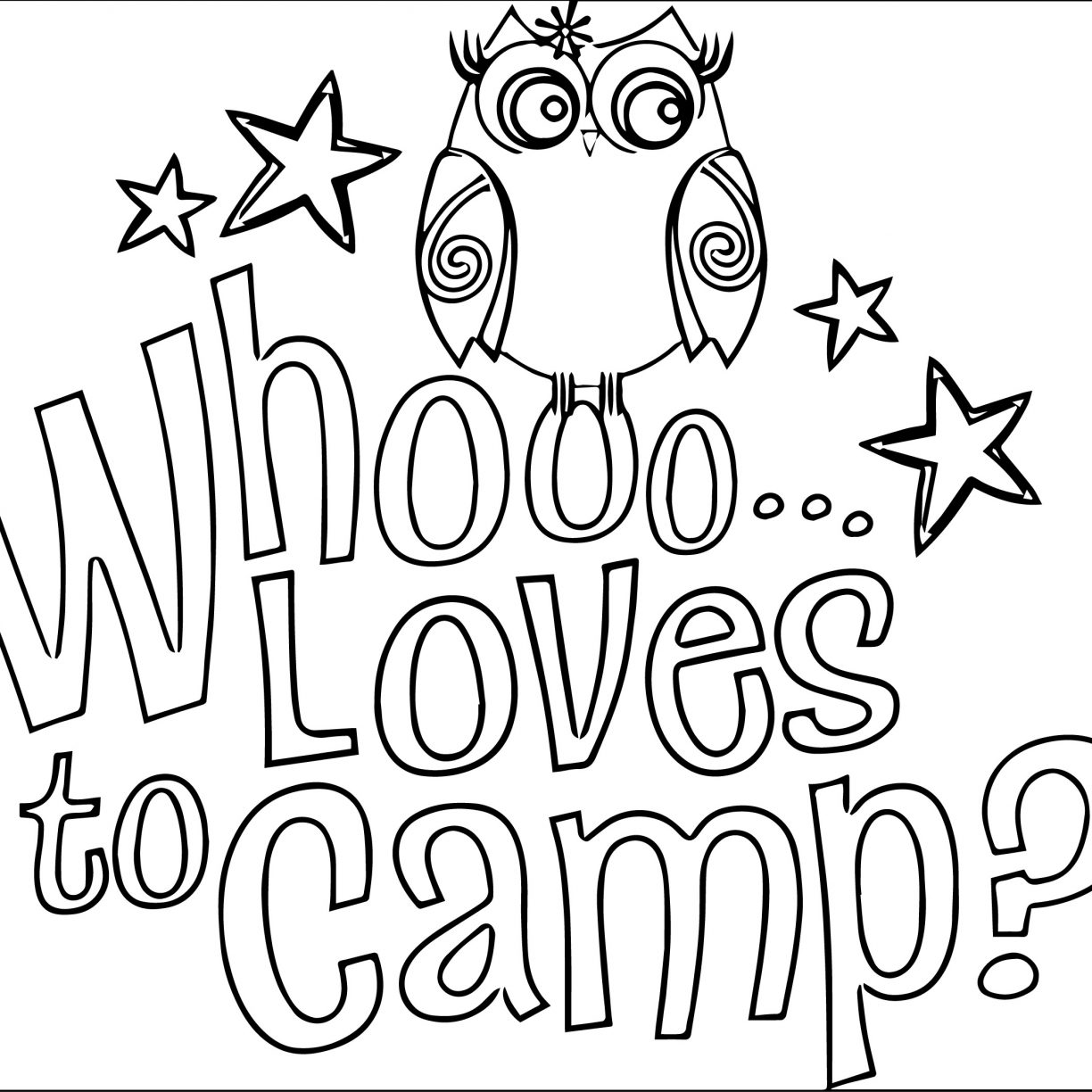 1224x1224 Free Coloring And Reading Page Summer Fun Camping With Pages