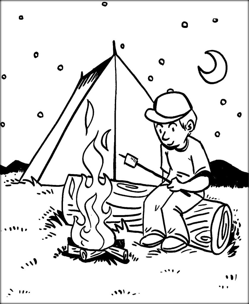 839x1024 Good Printable Camping Worksheets With Coloring Pages