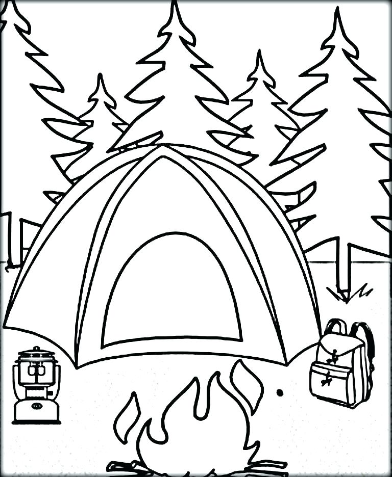 768x936 Camping Coloring Pages To Print